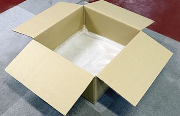 梱包方法1 底面にエアキャップを二重に敷いて下さい。